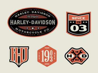 Harley-Davidson Travel Badges Part 2