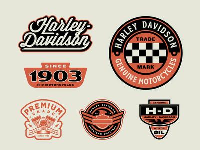 Harley-Davidson Travel Badges Part 3
