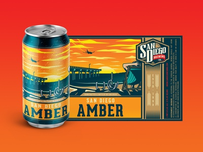 SD Brew Co. Amber Beer Label