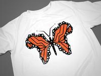 African Butterfly T-Shirt Concept