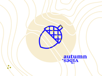 Autumn vibes. pattern composition typography typo minimal dots autumn icon