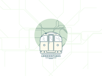 London Underground vector flat illustration lines underground icon london