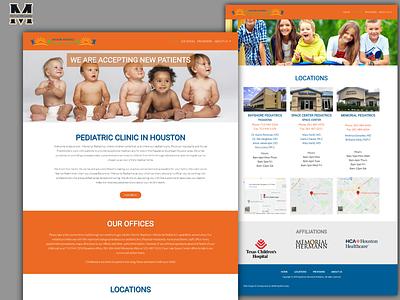 Bayshore-Memorial Pediatrics ui design websites website design