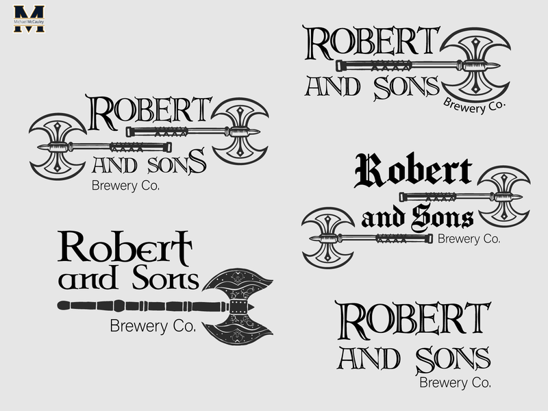 Robert And Sons Logo Concept brewery logo beer branding beer design illustrator logo badge