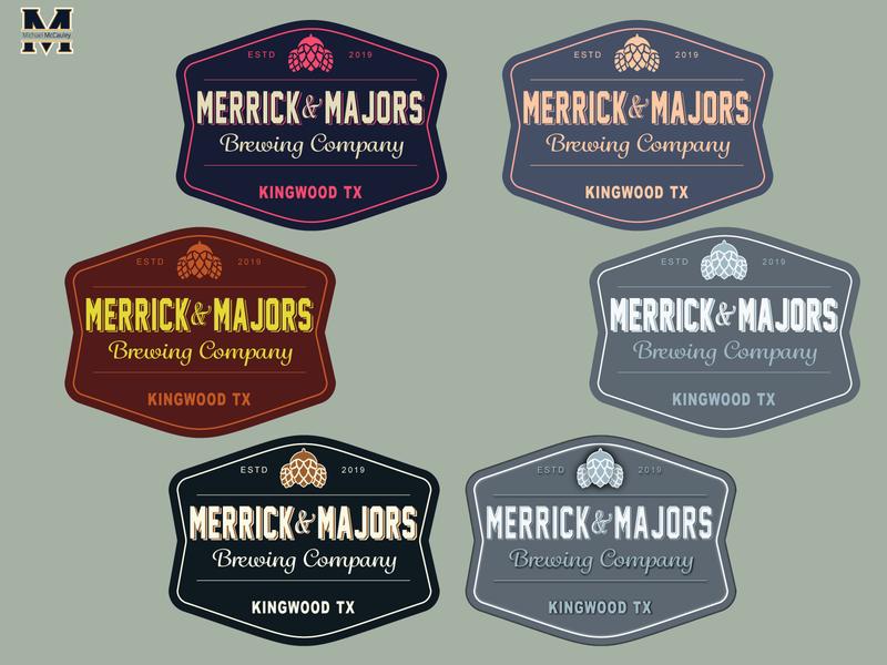 Merrick & Majors Brewing Co. craft beer brewing company brewery logo adobe illustrator concept branding logodesign vector design illustrator logo