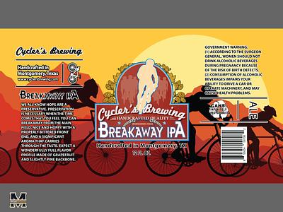 BreakAway IPA Beer Label beer can design beer can beer label logodesign design logo illustrator
