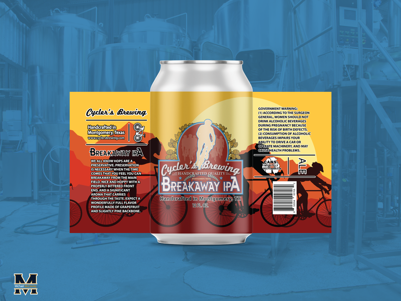 BreakAway IPA craft beer craftbeer beer branding beer label branding logodesign design graphic design illustrator logo