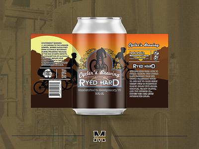 Ryed Hard Beer Label beer label design beerlabel craftbeer craft beer logo designer illustrator logo