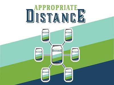 Appropriate Distance social distance social distancing beer label beer design contest contest adobe illustrator vector logo design illustrator logo