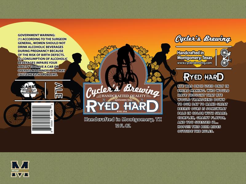 Ryed Hard IPA beer can beer label label labeldesign brewing brewery branding logodesign illustrator logo
