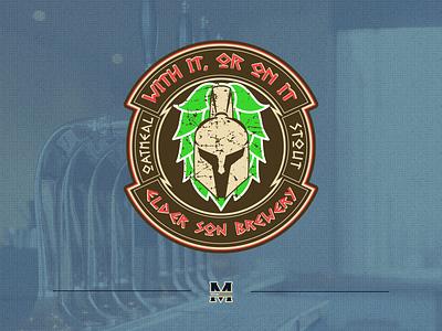 With It, Or On It beer logo design beer label beer art logo design illustrator logo
