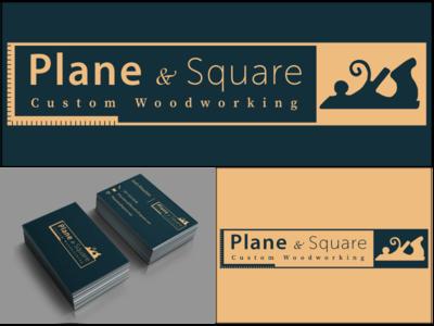 Plane & Square Business Cards