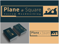 Plane & Square Business Cards