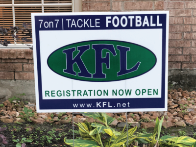 Kingwood Football League Yard Sign