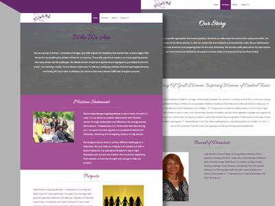 Website Design for God's Women Inspiring Women of Central Texas