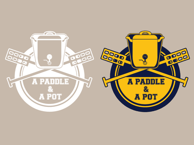 A Paddle And A Pot brewing brew logo design concept logo design illustrator logo