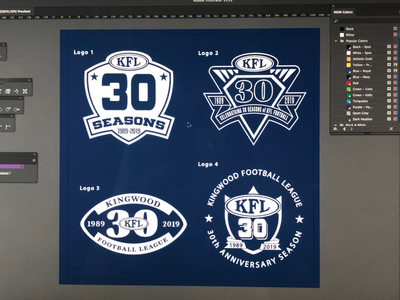 Kingwood Football League - 30 Years football logodesign logo illustrator