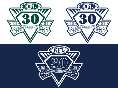 Kingwood Football League 30th Year anniversary football illustrator cc logodesign logo illustrator