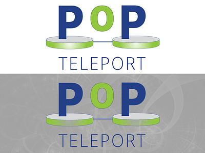 PoP Teleport Logo graphicdesign vector teleportation science mockup logodesign illustator