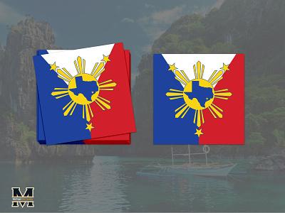 Texas Filipino Sticker development filipino texas sticker design illustrator concept