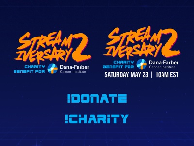 Shaun Zom Gaming Streamiversary 2 Overlay Graphics gamer 80s synthwave retrowave content creation benefit charity streaming streamer gaming video games twitch