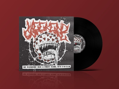 Weekend Grindcore Album Cover charity independent music xerox vinyl grindcore pandemic band art record