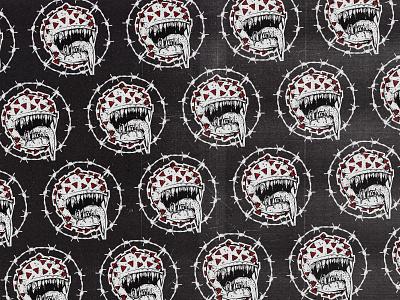 Coronabusters grindcore pattern coronavirus carbon copy pandemic illustration