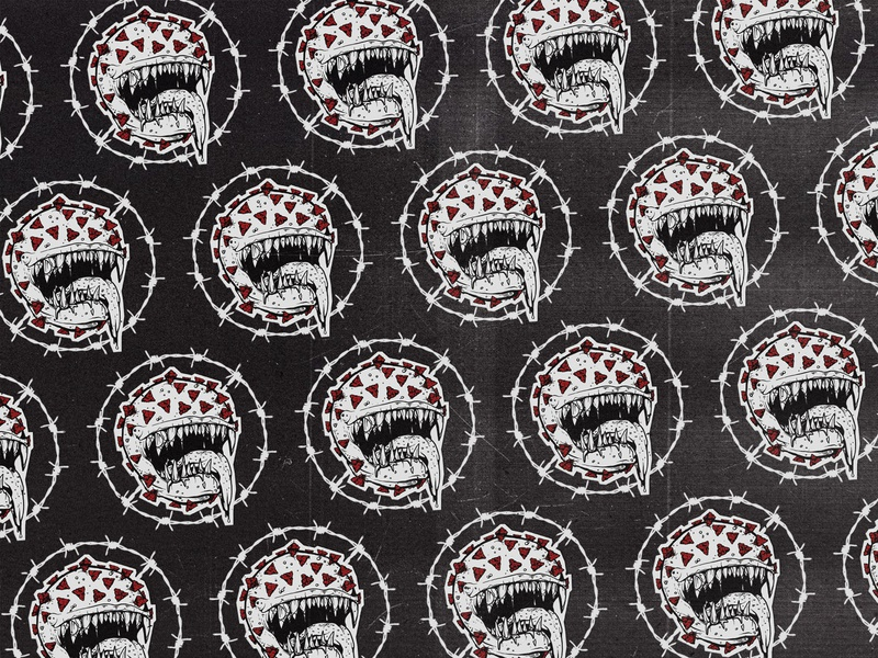 Coronabusters grindcore pattern coronavirus carbon copy pandemic illustration