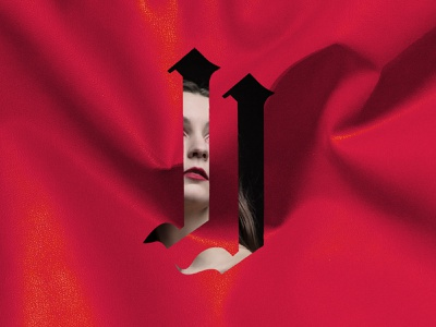 Jen Janet Logomark indie rock alternative pop gothic singer goth music iconography typography