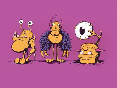 Mike, Larry, and Ben digital art drawing sketchbook illustrator illustration cartoon illustration cartoon monster