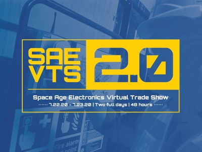 Space Age VTS2.0 Logo made in america innovation webinar education conference life safety technology manufacturing electronics trade show