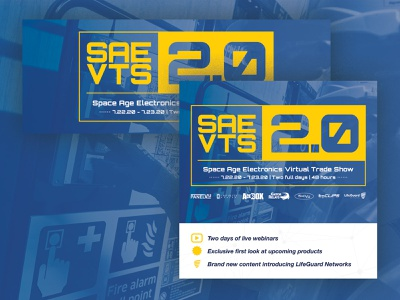 Space Age VTS2.0 Social Assets manufacturing innovation visual branding event life safety technology electronics trade show