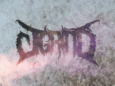 J.Grind Logo content creator branding hand lettered musician drummer grindcore death metal