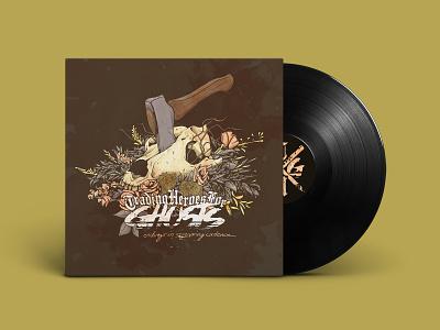Endings in Screaming Cadence Album Cover vinyl record metalcore hardcore band flowers skull drawing music illustration