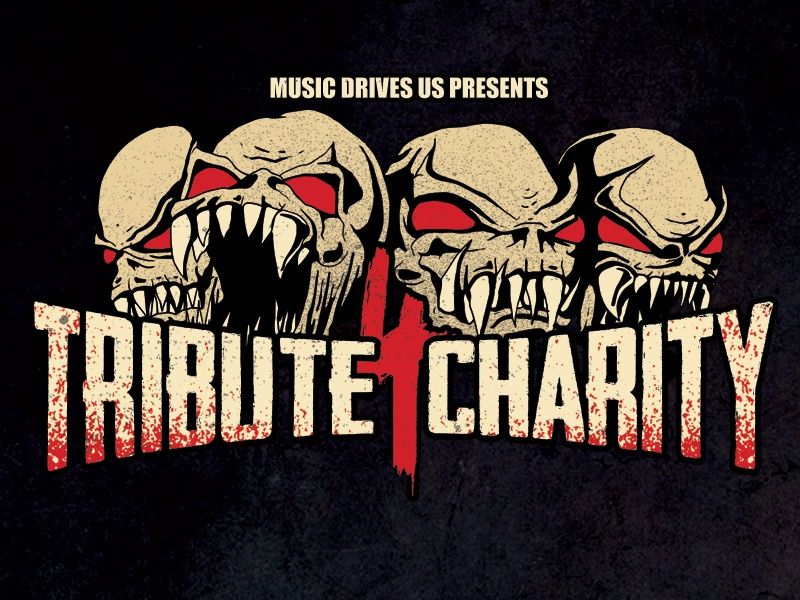 Tribute 4 Charity 2018 charity concert gig poster skull tribute thrash metal groove metal metal concert poster