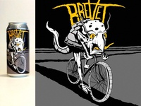 Brevet IPA Can Illustration