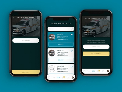 Polaris Mobility Driver App Vehicle Selection