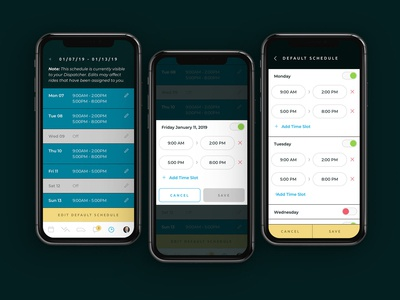Polaris Mobility Driver App Scheduling