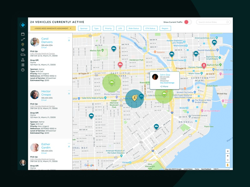 Polaris Mobility Dispatch Portal Map by Adam Cutler on Dribbble on transmission maps, data maps, shipping maps, service maps, inventory maps, jail maps,