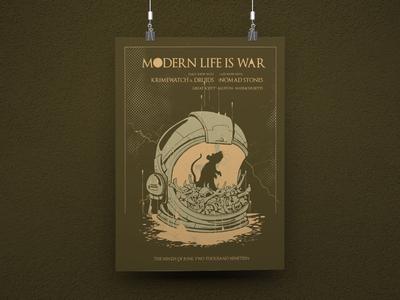 Modern Life is War Gig Poster