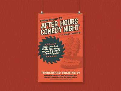 After Hours Comedy Night Poster