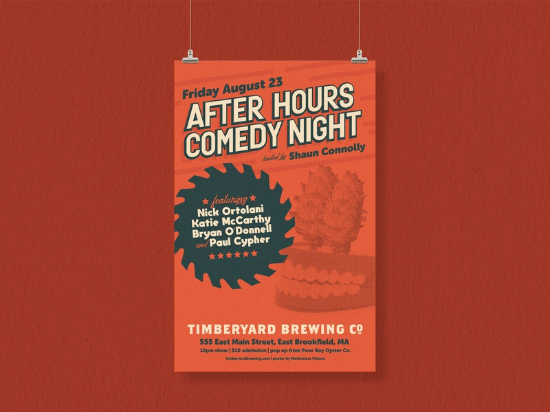 After Hours Comedy Night Poster new england massachusetts craft beer taproom standup