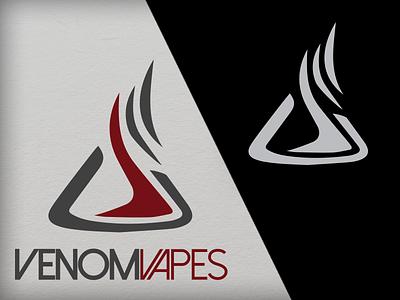 VenomVapes vape vapor logo branding illustration print