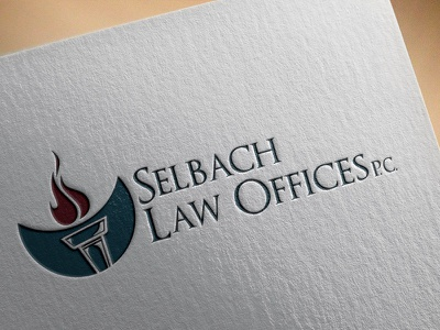 Selbach Law Offices P.C. law logo branding business card card paper design embossed