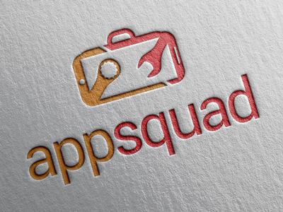 AppSquad logo app red orange icon design