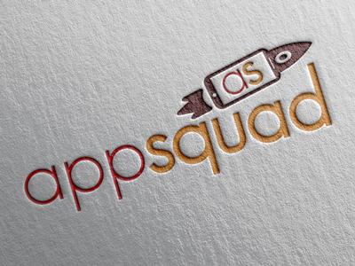 AppSquad V1 app design logo red orange icon