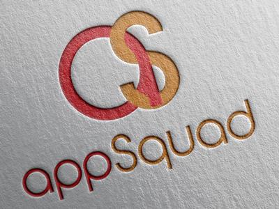 AppSquad V3 app icon logo design red orange