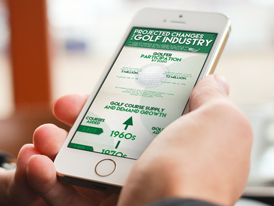 Golf Infographic infographic golf design illustration green tan logos logo