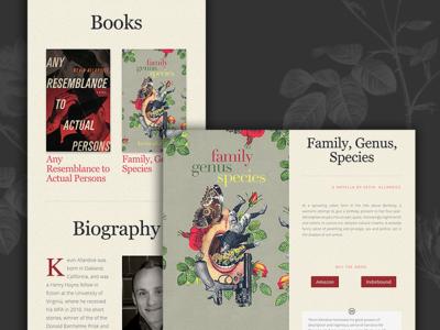 Kevin Allardice - Author Website wordpress story website writer rose portfolio about books author