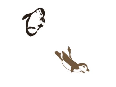 Wood Duck (aix sponsa) - Diving Ducklings vector silhouette portfolio minimal illustration flock ducks duckling jump branding bird animal